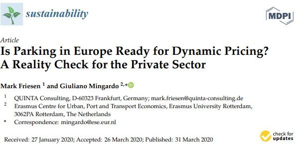 dynamic parking europe